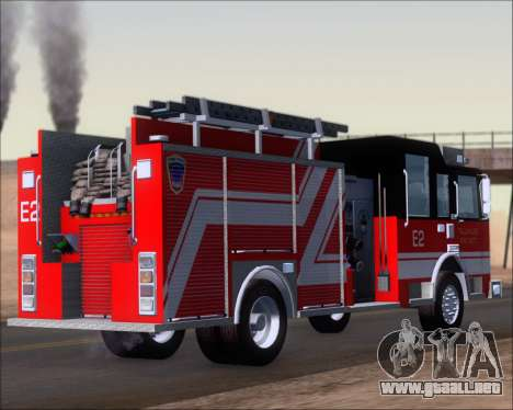 Pierce Arrow XT TFD Engine 2 para GTA San Andreas vista posterior izquierda