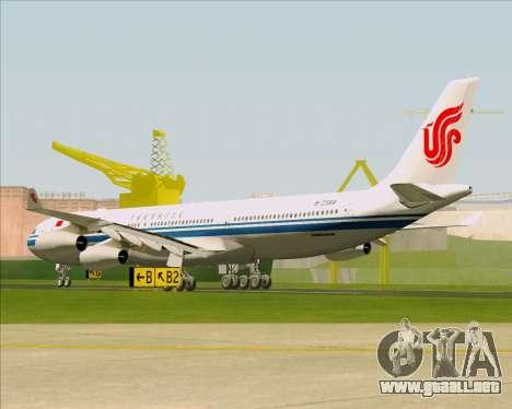 Airbus A340-313 Air China para la visión correcta GTA San Andreas
