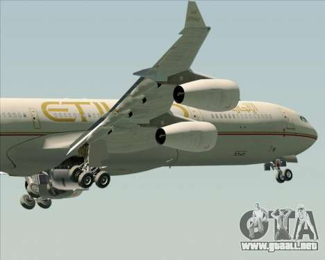 Airbus A340-313 Etihad Airways para GTA San Andreas