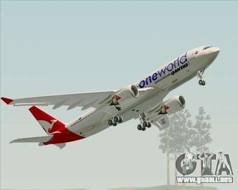 Airbus A330-200 Qantas Oneworld Livery para el motor de GTA San Andreas