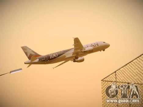 Airbus A320-214 LAN Airlines 100th Plane para visión interna GTA San Andreas