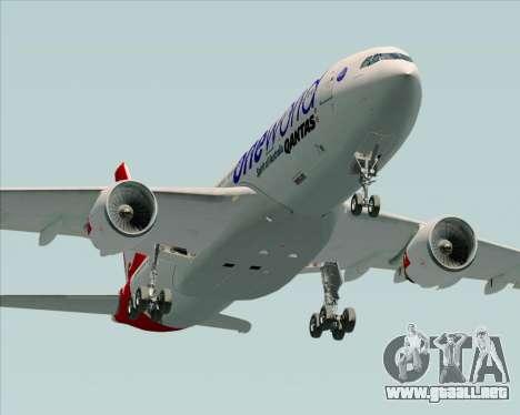 Airbus A330-200 Qantas Oneworld Livery para vista lateral GTA San Andreas