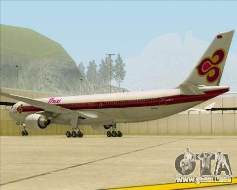Airbus A330-300 Thai Airways International para la visión correcta GTA San Andreas