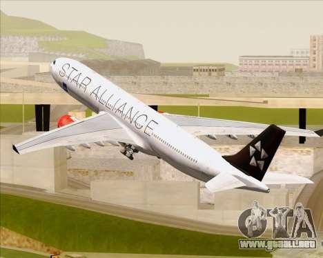 Airbus A330-300 SAS (Star Alliance Livery) para las ruedas de GTA San Andreas
