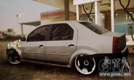 Dacia Logan Sedan Tuned para GTA San Andreas left