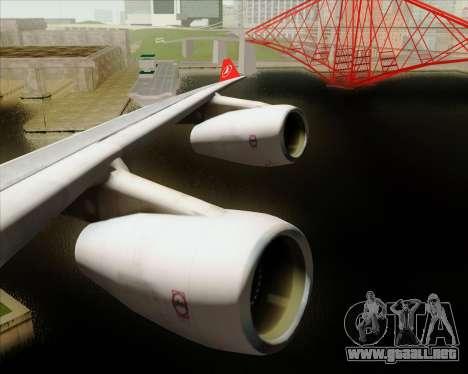 Airbus A340-313 Turkish Airlines para GTA San Andreas interior