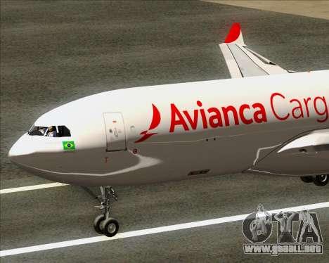 Airbus A330-243F Avianca Cargo para la visión correcta GTA San Andreas