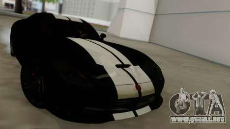 Dodge Viper SRT GTS 2013 Road version para vista lateral GTA San Andreas