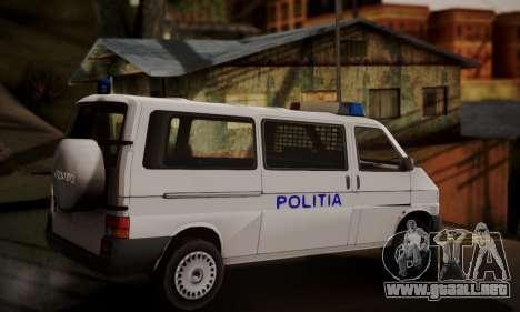 Volkswagen Caravelle Politia para GTA San Andreas left