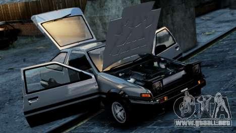 Toyota Sprinter Trueno AE86 Zenki para GTA 4 Vista posterior izquierda