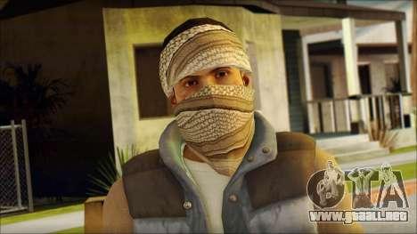 Arabian Resurrection Skin from COD 5 para GTA San Andreas tercera pantalla