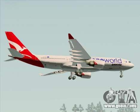 Airbus A330-200 Qantas Oneworld Livery para GTA San Andreas vista hacia atrás