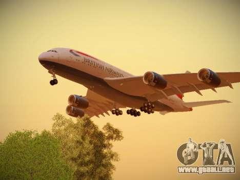 Airbus A380-800 British Airways para la visión correcta GTA San Andreas