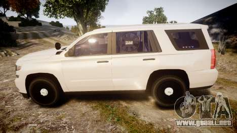 Chevrolet Tahoe 2015 PPV Slicktop [ELS] para GTA 4 left