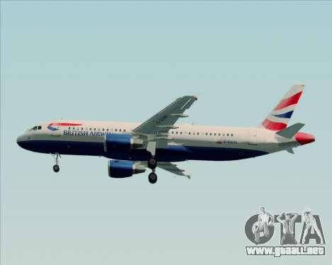 Airbus A320-232 British Airways para visión interna GTA San Andreas
