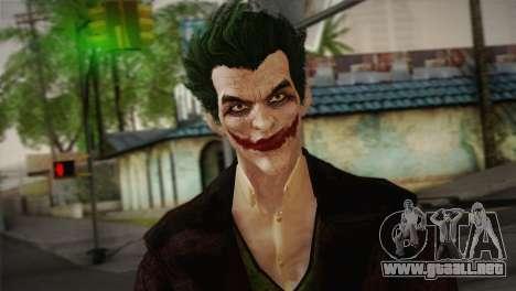 Joker From Batman: Arkham Origins para GTA San Andreas tercera pantalla