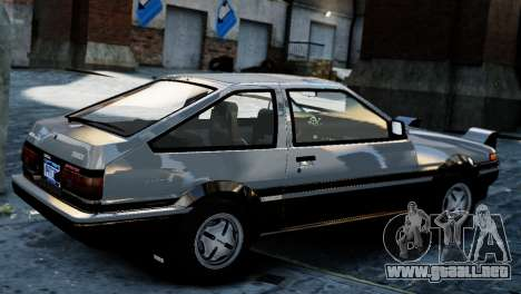 Toyota Sprinter Trueno AE86 Zenki para GTA 4 left