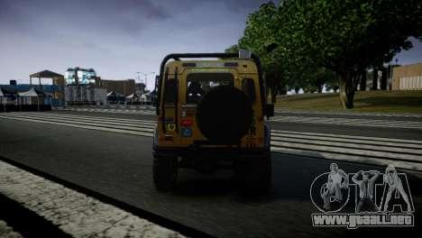 Land Rover Defender para GTA 4 visión correcta