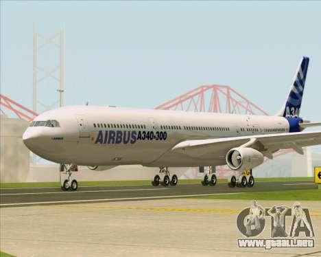 Airbus A340-311 House Colors para visión interna GTA San Andreas
