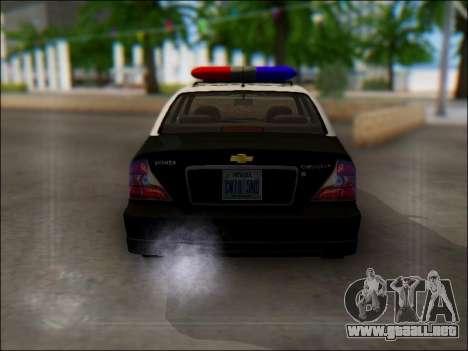Chevrolet Evanda Police para la visión correcta GTA San Andreas