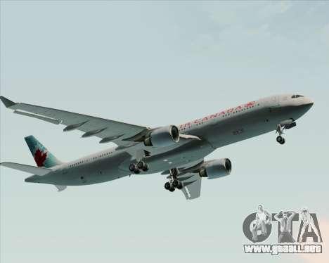 Airbus A330-300 Air Canada para la vista superior GTA San Andreas
