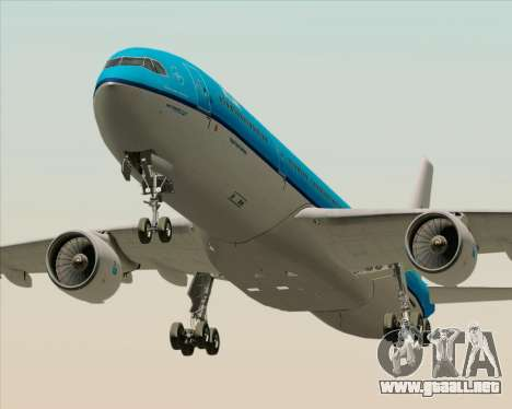 Airbus A330-300 KLM Royal Dutch Airlines para GTA San Andreas left