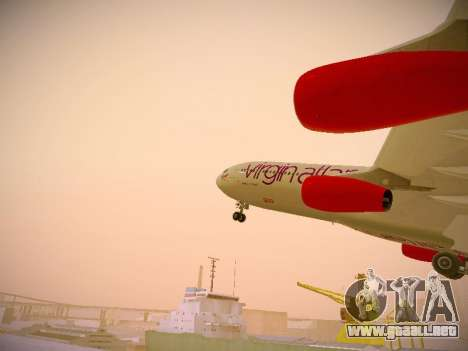 Airbus A340-300 Virgin Atlantic para GTA San Andreas interior