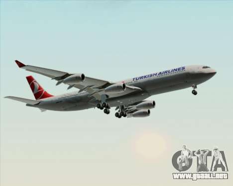 Airbus A340-313 Turkish Airlines para las ruedas de GTA San Andreas