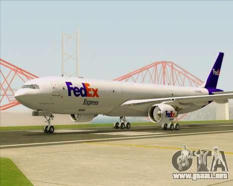 Airbus A330-300P2F Federal Express para GTA San Andreas vista hacia atrás