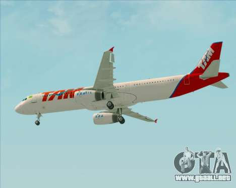 Airbus A321-200 TAM Airlines para visión interna GTA San Andreas