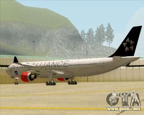 Airbus A330-300 SAS (Star Alliance Livery) para la visión correcta GTA San Andreas