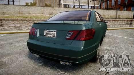 Benefactor Schafter Limousine para GTA 4 Vista posterior izquierda
