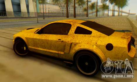 Ford Mustang Shelby Terlingua 2008 UA PJ para GTA San Andreas left