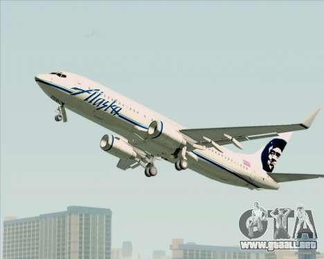 Boeing 737-890 Alaska Airlines para GTA San Andreas vista hacia atrás