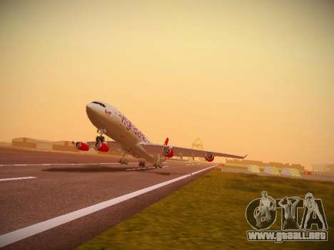 Airbus A340-300 Virgin Atlantic para GTA San Andreas left