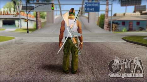 MR T Skin v12 para GTA San Andreas segunda pantalla