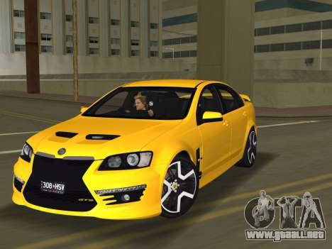 Holden HSV GTS 2011 para GTA Vice City vista posterior