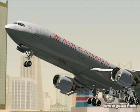 Airbus A330-300 Air Canada para vista inferior GTA San Andreas
