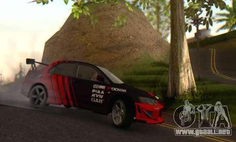 Mitsubishi Lancer Turkis Drift Advan para GTA San Andreas
