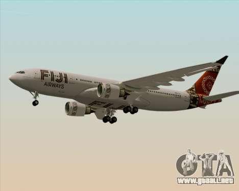 Airbus A330-200 Fiji Airways para el motor de GTA San Andreas