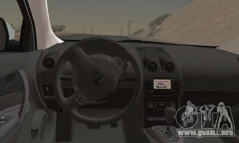Nissan Qashqai TR de la POLICÍA para GTA San Andreas vista posterior izquierda