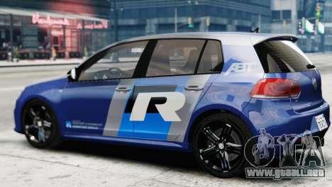 Volkswagen Golf R 2010 ABT Paintjob para GTA 4 left