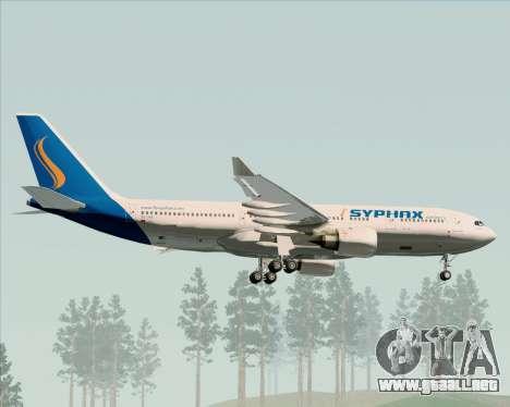 Airbus A330-200 Syphax Airlines para vista inferior GTA San Andreas