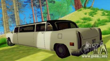 Cabbie Limousine para la visión correcta GTA San Andreas