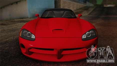 Dodge Viper SRT-10 2003 para GTA San Andreas vista hacia atrás