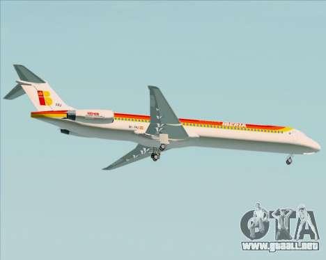 McDonnell Douglas MD-82 Iberia para la visión correcta GTA San Andreas