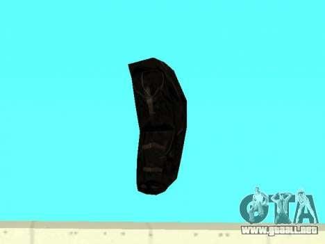 Negro en la mochila de Stalker para GTA San Andreas sucesivamente de pantalla
