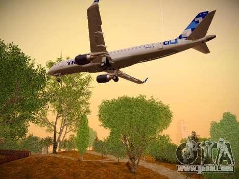 Embraer E190 TRIP Linhas Aereas Brasileira para vista inferior GTA San Andreas
