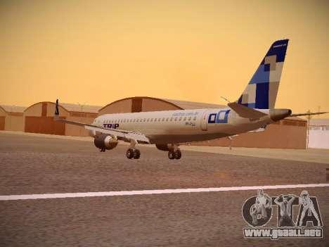 Embraer E190 TRIP Linhas Aereas Brasileira para GTA San Andreas vista posterior izquierda