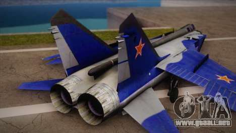 MIG-31 from H.A.W.X. para GTA San Andreas left
